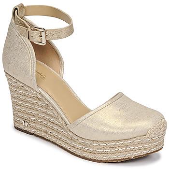 Shoes Women Sandals MICHAEL Michael Kors KENDRICK WEDGE Gold