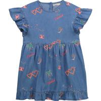 Clothing Girl Short Dresses Billieblush / Billybandit U12640-Z10 Blue