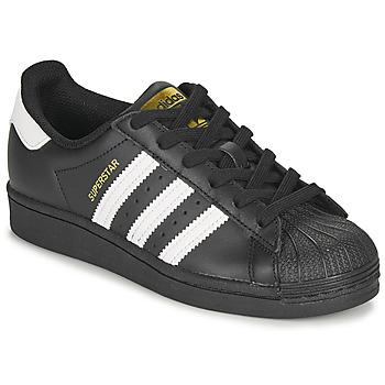Shoes Children Low top trainers adidas Originals SUPERSTAR J Black / White