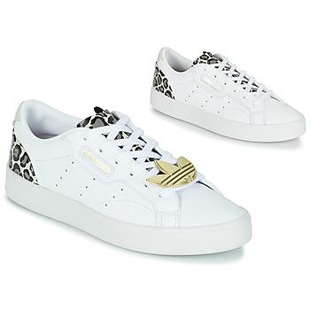 Shoes Women Low top trainers adidas Originals adidas SLEEK W White / Leopard