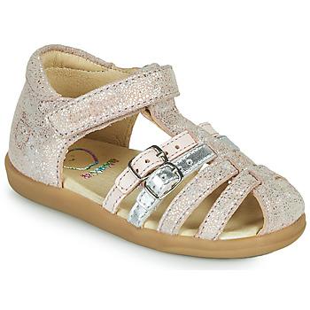 Shoes Girl Sandals Shoo Pom PIKA SPART Beige / Silver