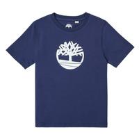 Clothing Boy Short-sleeved t-shirts Timberland TRISTA Blue
