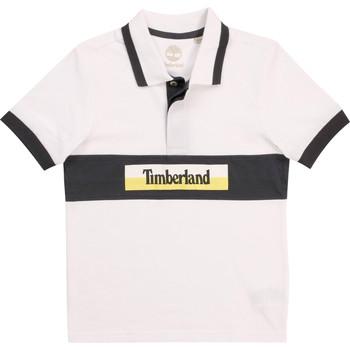Clothing Boy Short-sleeved polo shirts Timberland DOTTO White