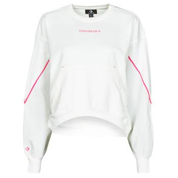 Clothing Women Sweaters Converse BLOCKED ALTERRAIN CREW White