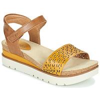 Shoes Women Sandals Josef Seibel CLEA 09 Brown / Yellow