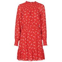 Clothing Women Short Dresses MICHAEL Michael Kors SIGNATRE LOGO SMCK DR Red