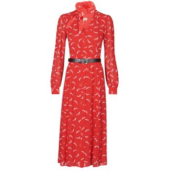 Clothing Women Long Dresses MICHAEL Michael Kors SIGNTRE LOGO SHRT DRS Red