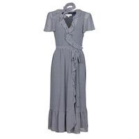Clothing Women Long Dresses MICHAEL Michael Kors MINI BICOLR 60S FLRL DRS Blue