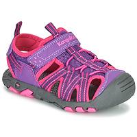 Shoes Girl Sandals Kangaroos K-ROAM Pink / Grey