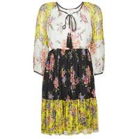 Clothing Women Short Dresses Derhy SARDAIGNE Black / White / Yellow