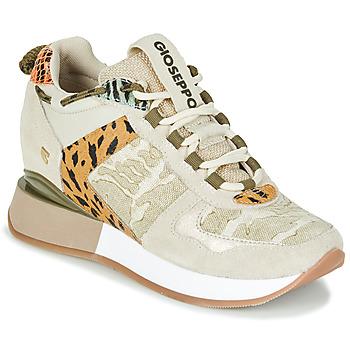 Shoes Women Low top trainers Gioseppo PATERSON Beige / Kaki
