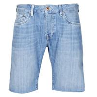 Clothing Men Shorts / Bermudas Pepe jeans STANLEU SHORT BRIT Blue / Clear