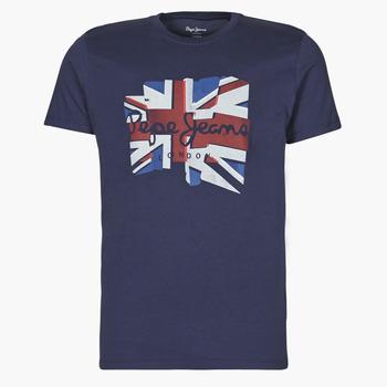 Clothing Men Short-sleeved t-shirts Pepe jeans DONALD Marine