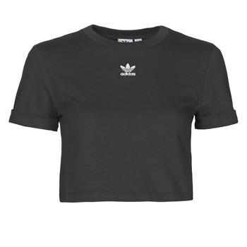Clothing Women Short-sleeved t-shirts adidas Originals CROP TOP Black