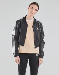Clothing Women Track tops adidas Originals SHORT TRACKTOP Black