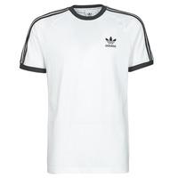Clothing Men Short-sleeved t-shirts adidas Originals 3-STRIPES TEE White