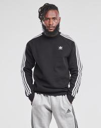 Clothing Men Sweaters adidas Originals 3-STRIPES CREW Black