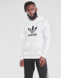 Clothing Men Sweaters adidas Originals TREFOIL HOODIE White