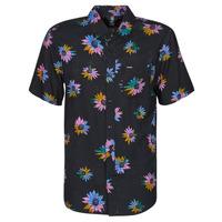 Clothing Men Short-sleeved shirts Volcom PLEASURE CRUISE S/S Black