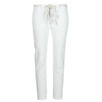 Clothing Women 5-pocket trousers Le Temps des Cerises EZRA White