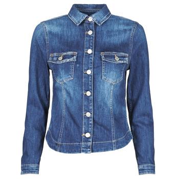 Clothing Women Denim jackets Le Temps des Cerises LILLY Blue