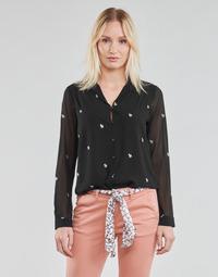 Clothing Women Tops / Blouses Le Temps des Cerises RUSSELA Black