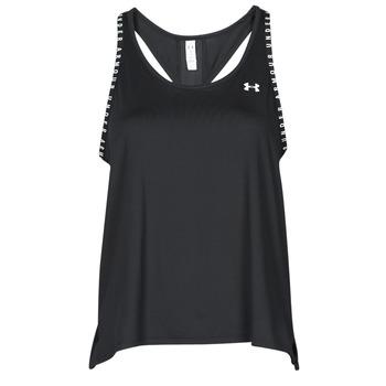 Clothing Women Tops / Sleeveless T-shirts Under Armour UA KNOCKOUT TANK Black