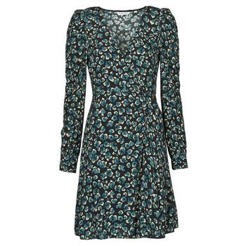 Clothing Women Short Dresses Naf Naf LEO R1 Leo / Black / Green