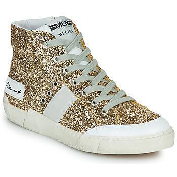 Shoes Women Hi top trainers Meline NKC1369 Gold