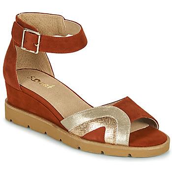 Shoes Women Sandals Sweet ETUVESS Bordeaux / Gold