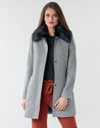 Clothing Women Coats Naf Naf AROUSSA Grey
