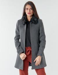 Clothing Women Coats Naf Naf AZAZOU M1 Grey