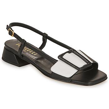 Shoes Women Sandals Fericelli PANILA Black / White