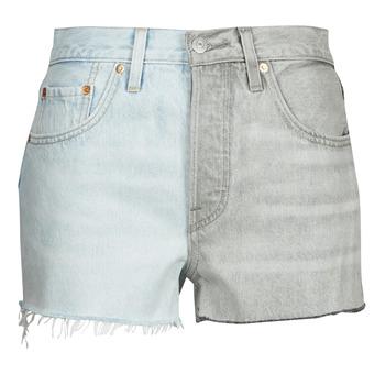 Clothing Women Shorts / Bermudas Levi's ICE BLOCK Blue / Grey