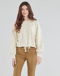 Clothing Women Sweaters Levi's CINCHED CREW SWEATSHIRT Beige