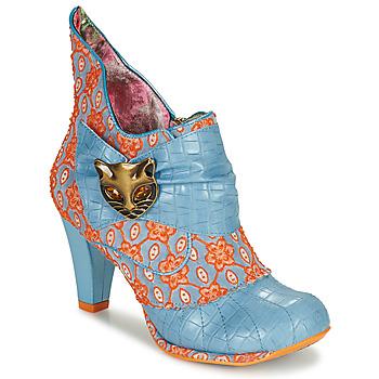Shoes Women Ankle boots Irregular Choice Miaow Blue / Orange