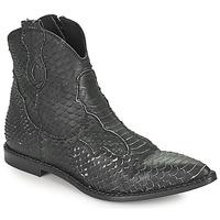 Shoes Women Mid boots Mimmu PYTHON INTAG Black