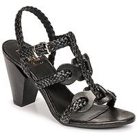 Shoes Women Sandals Mimmu TRECCIA-P-NERO Black
