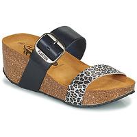 Shoes Women Mules Plakton SO ROCK Blue / Leopard