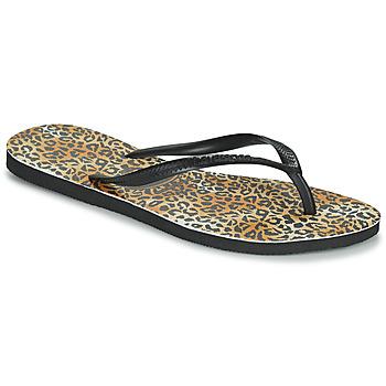 Shoes Women Flip flops Havaianas SLIM LEOPARD Multicoloured