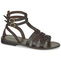 Shoes Women Sandals Dream in Green OBELLA Brown