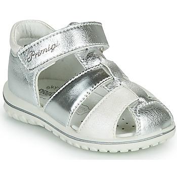 Shoes Girl Sandals Primigi GABBY Silver / White