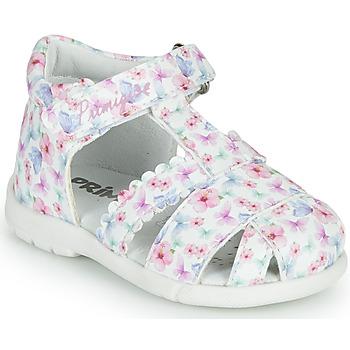 Shoes Girl Sandals Primigi NOEMIE White / Multicolour