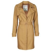 Clothing Women Trench coats Ikks BS42025-63 Hazelnut