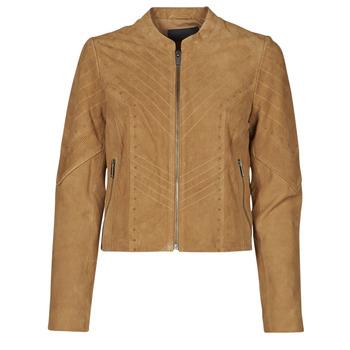 Clothing Women Leather jackets / Imitation leather Ikks BS48075-63 Hazelnut