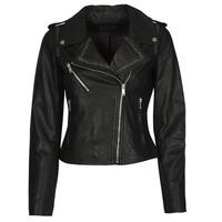 Clothing Women Leather jackets / Imitation leather Ikks BQ48045-02 Black