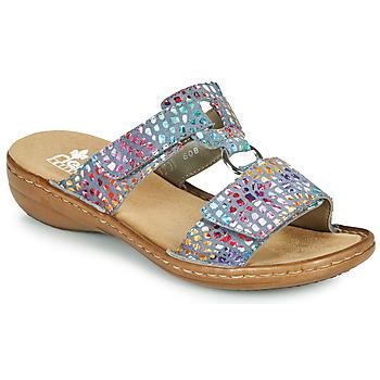 Shoes Women Mules Rieker FOUNNA Multicolour