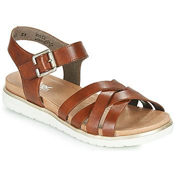 Shoes Women Sandals Rieker NORRA Brown