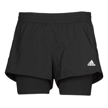 Clothing Women Shorts / Bermudas adidas Performance PACER 3S 2 IN 1 Black