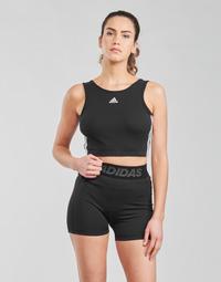 Clothing Women Sport bras adidas Performance W 3S CRO Black